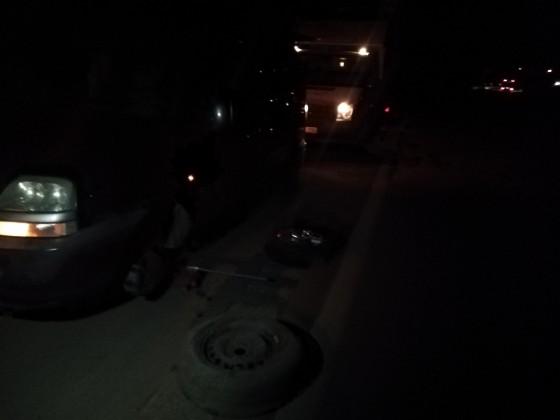 Gece saat 2 de Antalya yolunda lastik tamiri