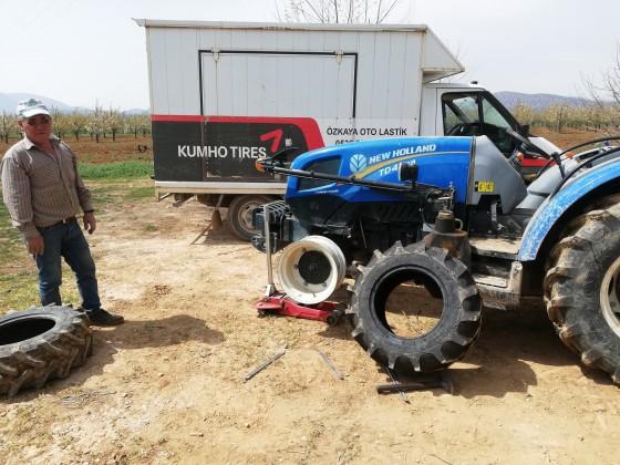 Yeni lastik montajı